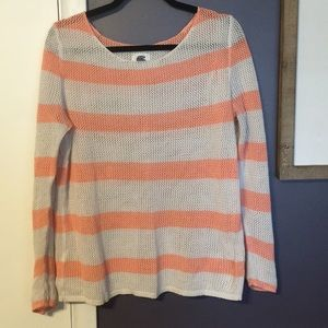 NWOT peach and cream old navy thin sweater